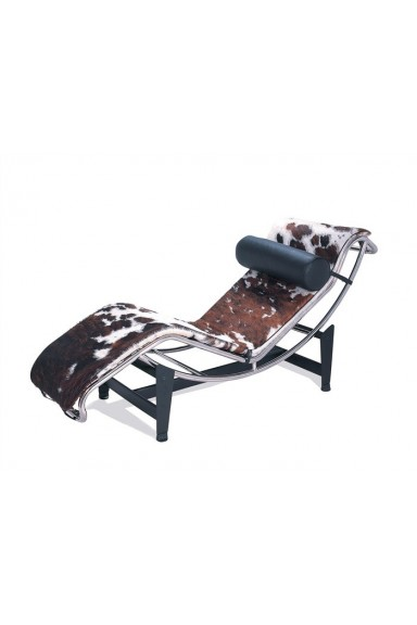 BROWN COW LEATHER CHAISE...