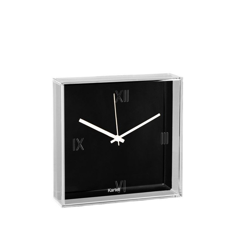 kartell, reloj, tic & tac, blanco y negro