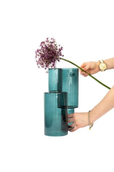 Handmade green vase,...