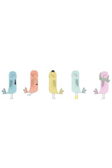 Children's vinyls birds,...